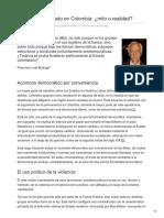 Leal Buitrago, Francisco. Debilidad Del Estado en Colombia. Mito o Realidad
