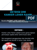 Deteksi Dini Kanker Leher Rahim