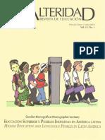 ¿De qué me sirve la Interculturalidad? Evaluación de la Universidad Intercultural de Chiapas por sus estudiantes