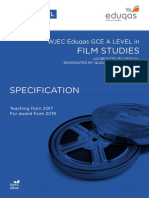 Eduqas a Level Film Studies Spec From 2017