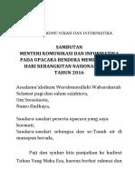 Sambutan Menkominfo - Hartiknas 2016
