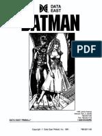 Batman Instruction Manual