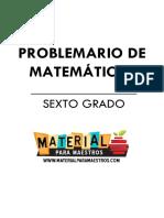 Problemario de Matematicas 6to Grado