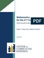 CCR Maths Subjects Topics