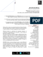 Boletín de Prensa. ejemplo