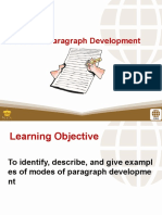 2 Modes of Paragraph Development