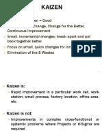 Sss Realkaizen an Intro to Kaizen