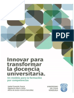 Innovar Para Transformar La Docencia Universitaria