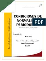 Condiciones de Normalidad Periodontal - Odontopediatría II