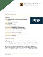 Addendum 3 - 5.0. Method Statement - Redacted