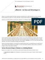 Bamboo as a Building Material - Its Uses and Advantages in Construction