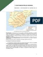 Romanización y Cristianización de Hispania