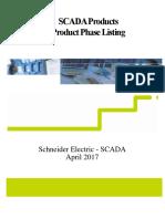 SCADA Lifecycle Phase Listing