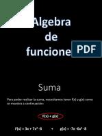 Algebra Funciones