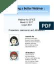 Handouts for Building a Better Webinar