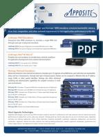 Apposite Technologies Product Comparison Sheet