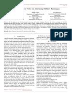 A Review Paper on Video De-Interlacing Multiple Techniques