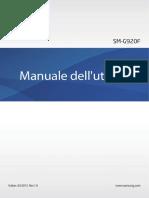 Samsung Galaxy S6 User Manual SM G920F Lollipop Italian Language