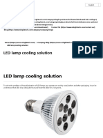 LED Lamp Cooling Solution - Pin Fin Heat Sink _ LED Heat Sink _ LED Cooler