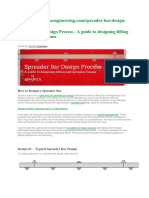 Spreader Bar Design Process - A Guide to Designing Lifting and Spreader Beams