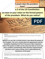 7. Presidential Power Limitations
