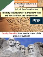 2. Presidential Power Evolution
