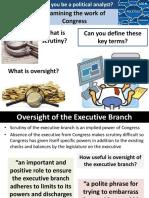 8. Scrutiny Oversight