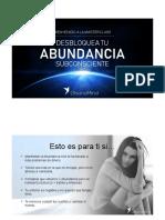 Webinar 2018 Abundancia Subconsciente