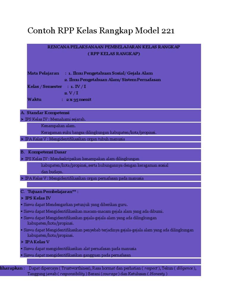 download rpp kelas rangkap model 221 doc
