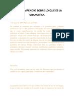 Breve Compendio Sobre Lo Que Es La Gramatica