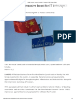 APBF Foresees Massive Boost for IT Industry _ CPEC News Today