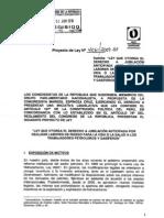 Proyecto Ley 4061, Sector Petrolifero y Gasifero