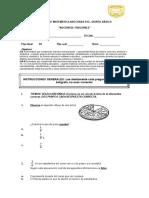 Prueba de Matemática Quinto Básico Fracciones 20-10-17