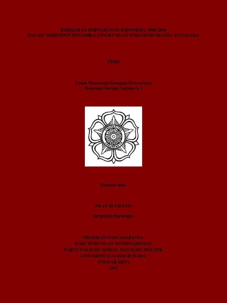 Final Komplit Tesis Iwan Sulistyo Hi Ugm 2012 Saved