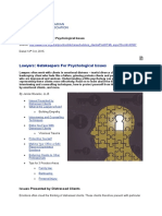 Lawyers and Psychology