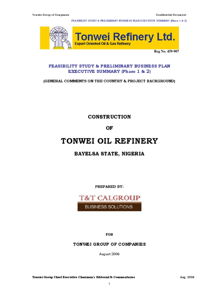 Refinery Business Plan | Expense | Oil Refinery