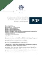 Transcription Du Discours Du President de La Republique - Hommage National Au Lt-colonel Arnaud Beltrame