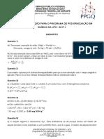 Gabarito Prova  PPGQ UFS 2017-1