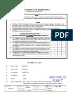 Syllabus Math22-1(ECE, EE, CpE)