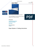 Fold N Fly ✈ Basic Dart