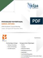 Psicologia em Portugal - Estatística OPP, 2015