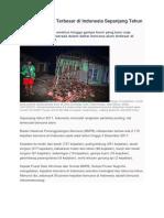 7 Bencana Alam Terbesar Di Indonesia Sepanjang Tahun 2017