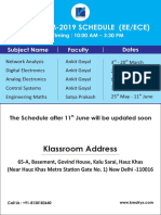 Klassroom Schedule 2019 1
