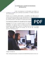 Amenzas y Causas Seguridad Informática