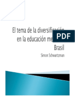 El tema de la diversificación educación media en Brasil