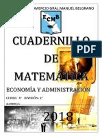 Cuadernillo CUARTO AÑO NIVEL ORIENTADO