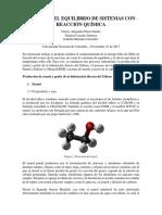 Análisis Del Equilibrio de Sistemas Con Reacción Química