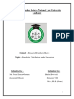 Project of Conflict of Laws