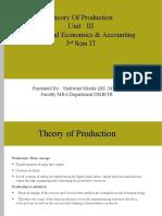 MEA Unit 3 Production Function