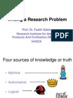 POSTGRAD Research Problem